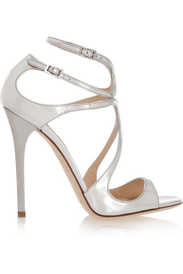 "<strong>Metallic Heels</strong> <br><br> Jimmy Choo sandals, $955, <a href=""http://www.jimmychoo.com/en/women/shoes/sandals/lance/gold-mirror-leather-sandals-LANCEMLEOO0022.html?cgid=women-shoes-sandals#start=1"">jimmychoo.com</a>"