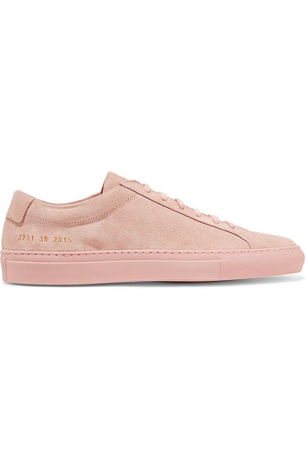 """<strong>Stylish Sneakers</strong> <br><br> Common Projects sneakers, $377, <a href=""""https://www.net-a-porter.com/au/en/product/754579/common_projects/original-achilles-suede-sneakers"""">net-a-porter.com</a>"""