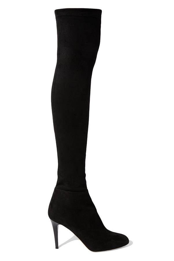 """<strong>Tall Slick Boots</strong> <br><br> Jimmy Choo boots, $1,737, <a href=""""https://www.net-a-porter.com/au/en/product/733718/jimmy_choo/toni-stretch-suede-over-the-knee-boots"""">net-a-porter.com</a>"""