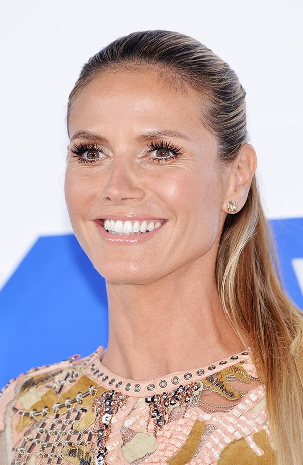 <p>Heidi Klum knows the age-defying power of a tight ponytail. She let her lashes do the talking.