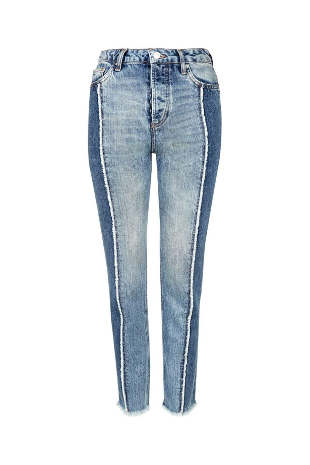 "Jeans, $78, <a href=""http://www.topshop.com/en/tsuk/product/clothing-427/jeans-446/moto-panel-straight-leg-jeans-5671623?bi=80&ps=20"">Topshop</a>."