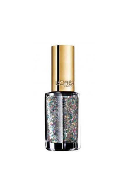 """Colour Riche Le Vernis in Sequin Explosion, $7.95, <a href=""""https://www.priceline.com.au/l-oreal-paris-colour-riche-le-vernis-5-ml"""" target=""""_blank"""">L'Oréal Paris at priceline.com.au</a>."""