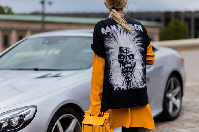 street style metallica band tshirt