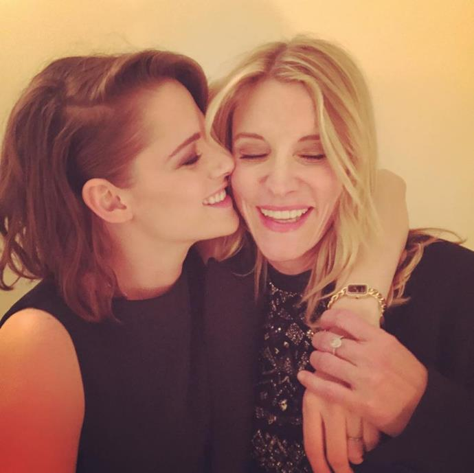 "<p><strong>Jillian Dempsey</strong> <p>Yes, she's Patrick Dempsey's wife. She is also Kristen Stewart's go-to makeup lady. <p><a href=""https://www.instagram.com/jilliandempsey/"" target=""_blank"">Instagram.com/jilliandempsey</a>"