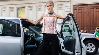 model street style car fashion week