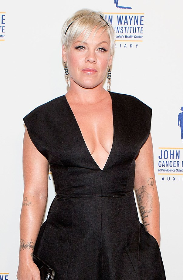 """<p><strong>Pink</strong> <p>Pink came face-to-face with her celebrity crush, Johnny Depp, live on TV when Jimmy Kimmel teased her about it, then brought out the actor. First she talked about how she had avoided him at a bookstore, saying, """"I didn't want to meet him. My husband [Carey Hart] made me meet him, which was so dumb."""" She couldn't stop laughing when Johnny came out, and embarrassingly gave him a hug."""