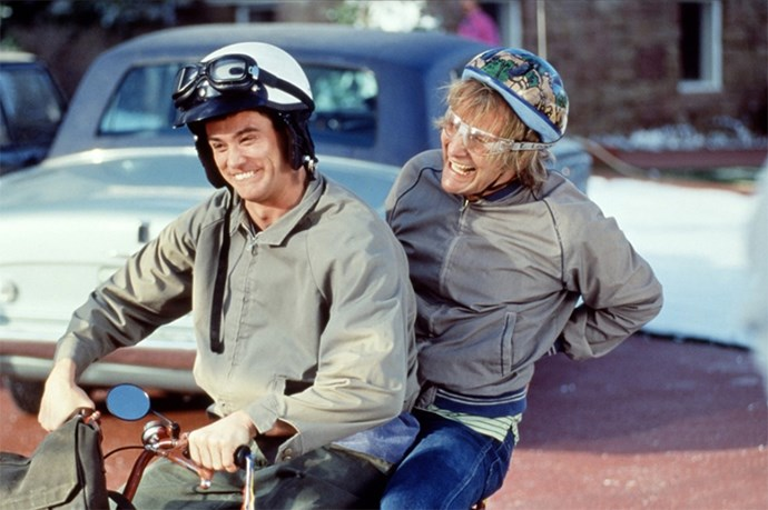 <strong>Dumb and Dumber (1994):</strong> More stupid one-liners than a Miss America pageant.