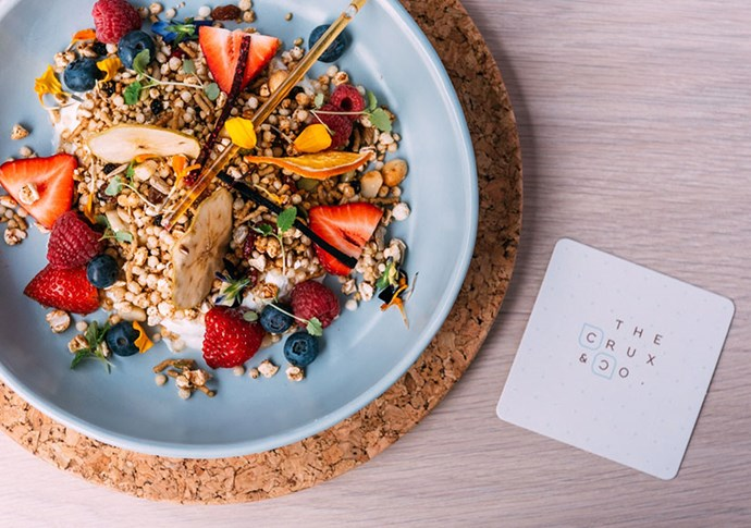 "DO BRUNCH <br><br> After a small sleep-in, haul yourself to the newly opened Crux & Co just down the road from the Botanical Gardens for house-made pastries, jams, muesli and free range eggs done your way. If you've got a sweet tooth, pick up one of a tempting selection of colourfully flavoured éclairs or a croggle (half croissant, half bagel) for the road.<br><br><a href=""www.thecruxandco.com.au"">www.thecruxandco.com.au</a>"