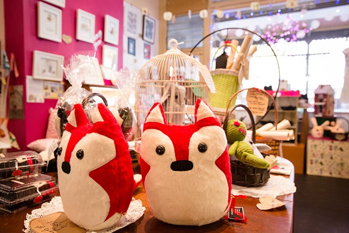 "SHOP<br><br> The brain child of local shop owner and designer Sonia Brit, Bob Boutique is overflowing with cuteness: printed tea towels, sweet jewellery, and fun knick knacks. Specialising in Australian made (and hand-made), the characterful store takes up a charming portion of the historic Shamrock Hotel building. Dare you not to leave smiling. <br><br> <a href=""http://www.bob.net.au/"">www.bob.net.au </a>"
