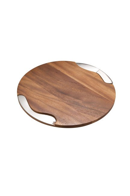 "<strong>Cheese board.</strong> <br><br>Brie, besties and a big ol' glass of Merlot. The dream. <br><br>Cheese board, $179, Nambé at <a href=""http://shop.davidjones.com.au/djs/ProductDisplay?catalogId=10051&productId=4277060&langId=-1&storeId=10051"">David Jones</a>"