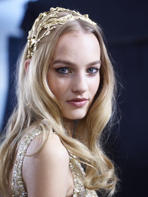 <P> THE PRINCESS BRIDE<p> <p> If you're planning a full glam, centre-of-attention wedding (bonus if a tiara or crown is involved), try a peach blush, a pretty pink lip, a sexy flick of liner and complete with an OTT gold flash in your inner-corner.