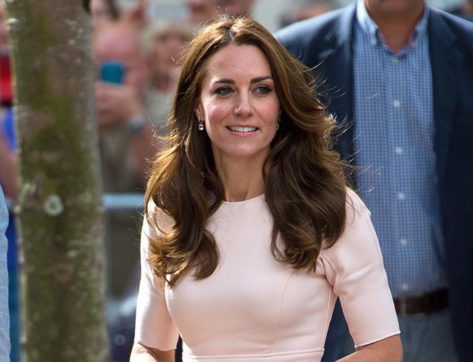 Kate Middleton Wearing Pink Lela Rose Dress in Cornwall