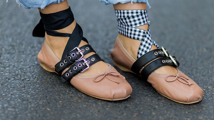 Miu Miu Ballet Flats Street Style