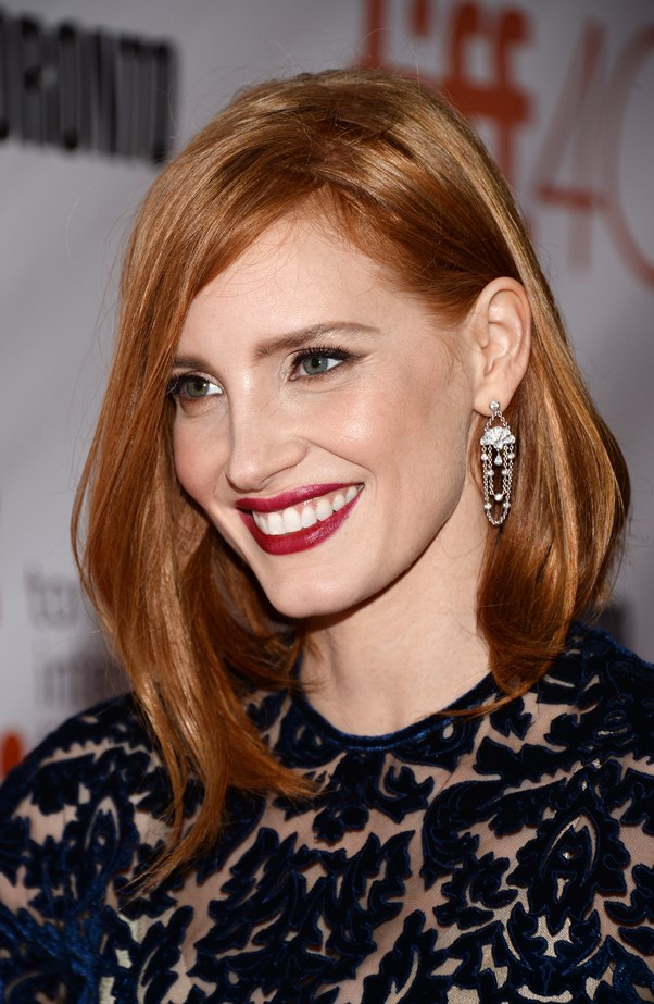 <p>FOR THOSE THINKING OF A HAPPY MEDIUM<p> <p> Jessica Chastain.