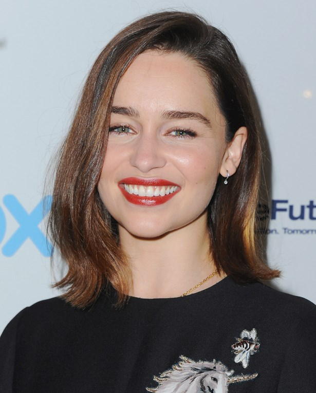 <p>FOR THOSE THINKING OF A HAPPY MEDIUM<p> <p> Emilia Clarke.