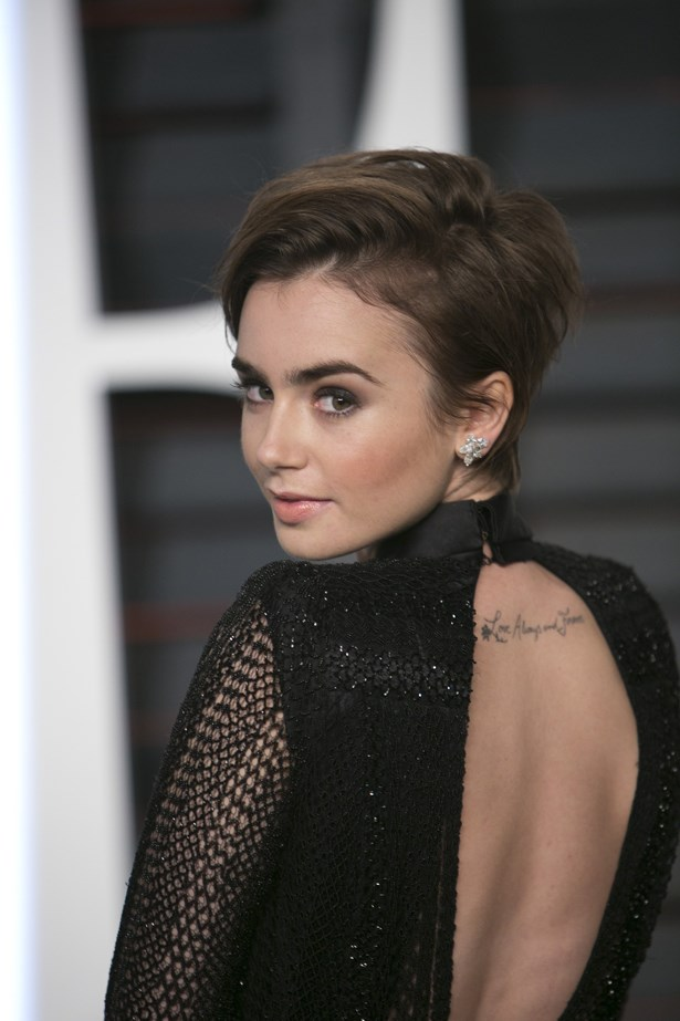 <p>FOR THOSE THINKING OF KEEPING THINGS SHORT<p> <p> Lily Collins.
