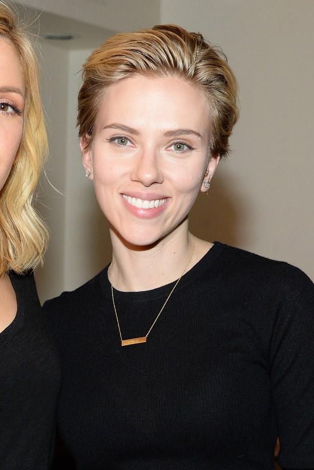 <p>FOR THOSE THINKING OF KEEPING THINGS SHORT<p> <p> Scarlett Johansson.