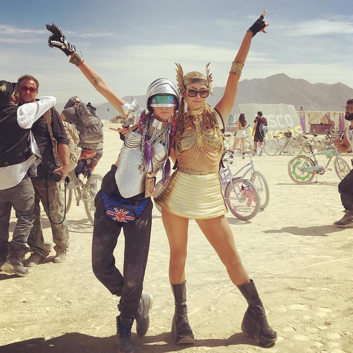 Cara Delevingne and Paris Hilton.