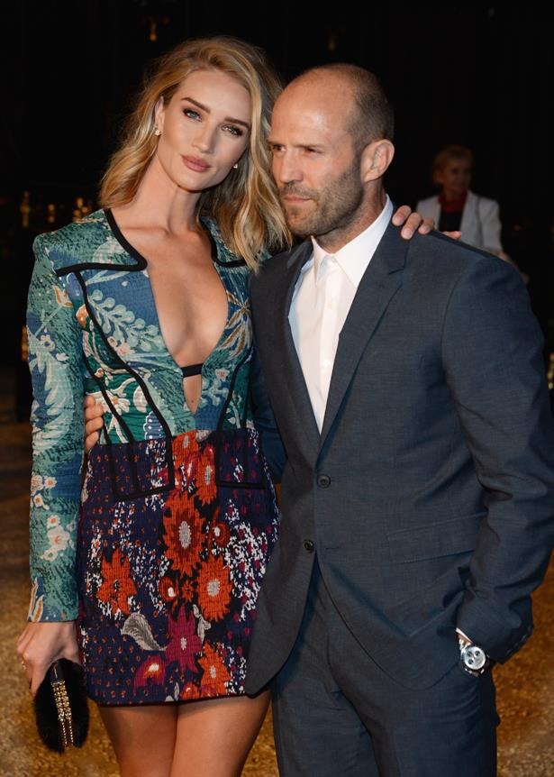 <p> **Rosie Huntington-Whiteley, 32, and Jason Statham, 52.** <p> Difference: 20 years.