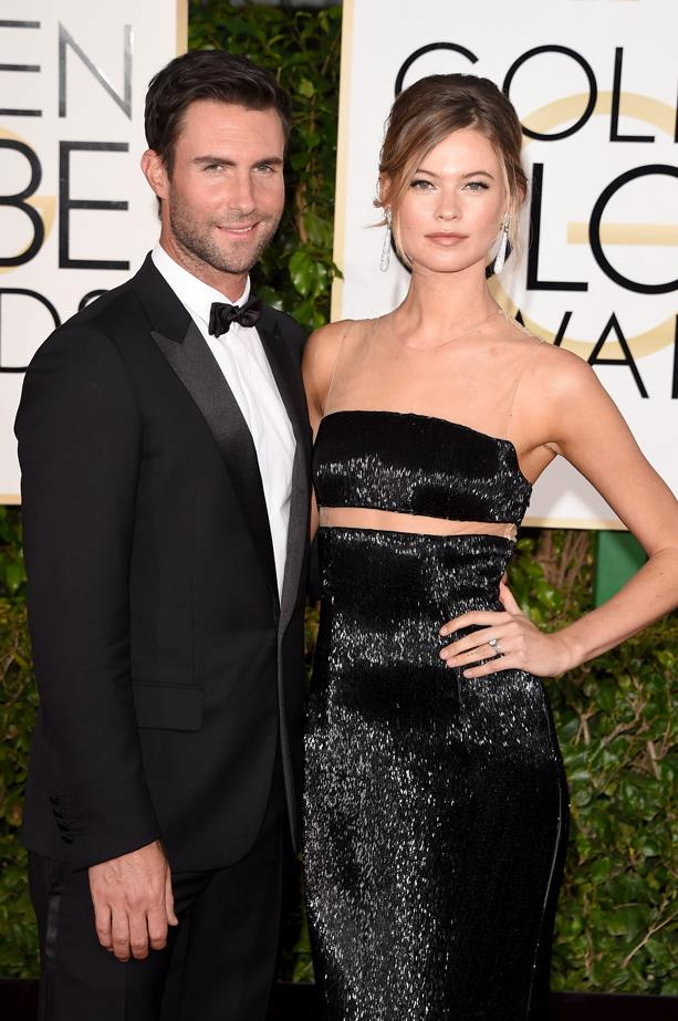 <p> **Behati Prinsloo, 31, and Adam Levine, 40.** <p> Difference: 9 years.