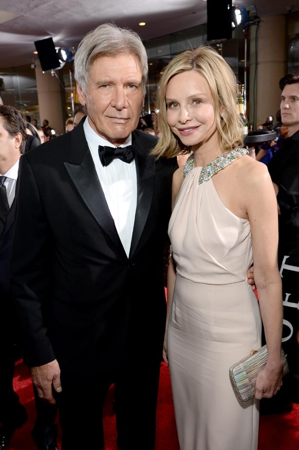 <p> **Calista Flockhart, 55, and Harrison Ford, 77.** <p> Difference: 22 years.