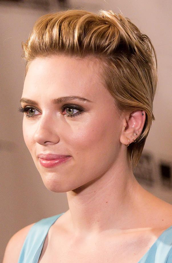 <p>Scarlett Johansson has at least seven holes in her left ear! But you probably wouldn't notice because she uses delicate jewellery to accessorise.