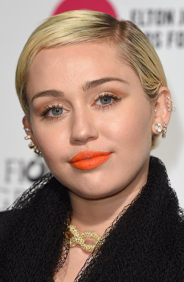 <p>Let's just say Miley Cyrus has a lot of ear piercings, but she doesn't always wear earrings.