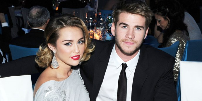 Liam Hemsworth and Miley Cyrus.
