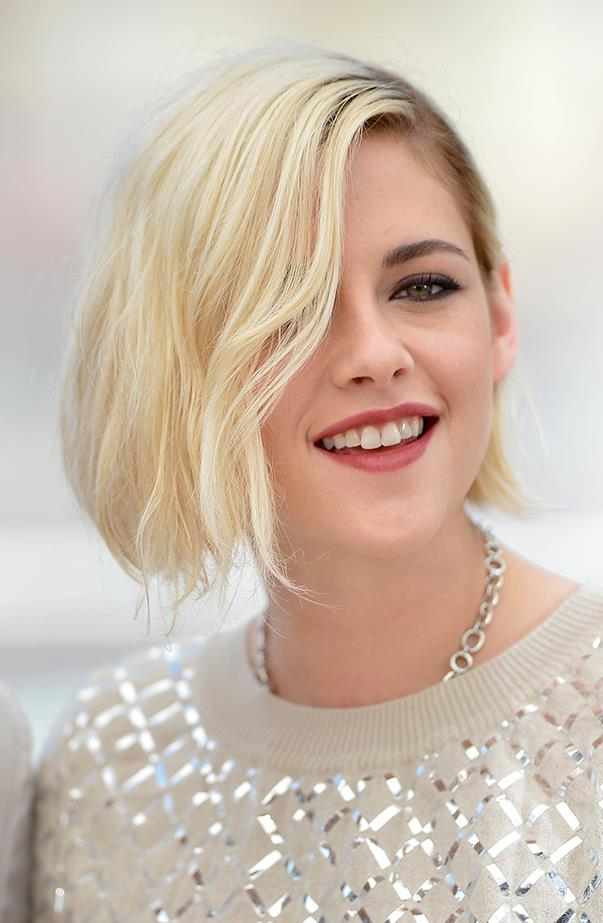 "<p>Kristen Stewart told <a href=""http://site.people.com/style/kristen-stewart-reveals-the-reason-why-she-f-ed-up-her-hair/"" target=""_blank""><em>People</em></a> the reasoning behind why she went platinum blonde in May: ""I just did like five movies over a two-year period, and I think it's a very good decision for me right now to stop acting in movies for just a moment, and I've never really done that, I've never changed my appearance. I've always really stayed neutral since I was like 10 years old, so I was like, 'I'm gonna direct a short, and I'm gonna f**k up my hair.'"""