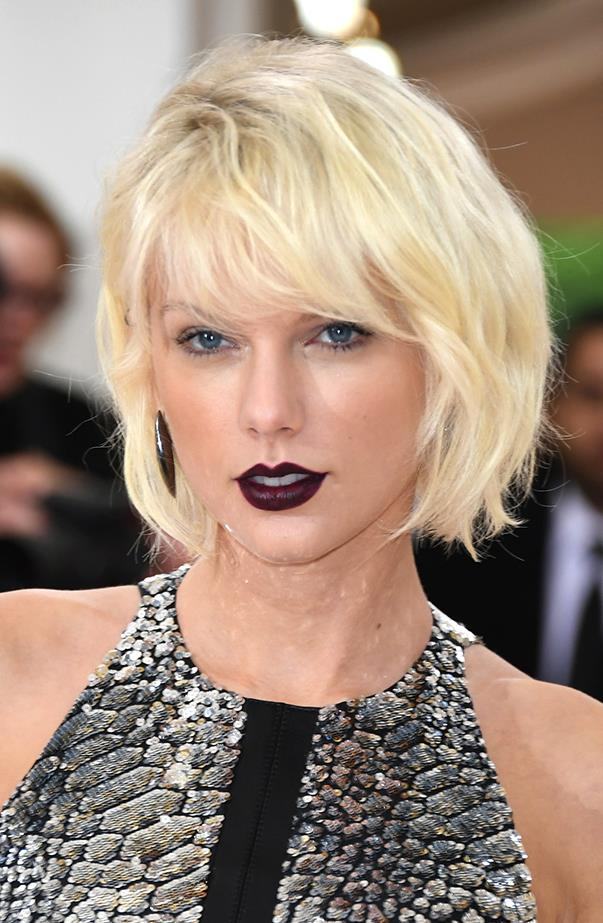 <p>Taylor Swift debuted dramatic platinum hair at the 2016 Met Gala, which she co-chaired.
