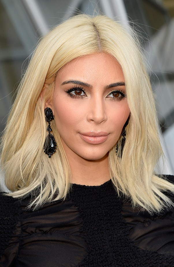 <p>Kim Kardashian has an extensive and realistic wig collection, but she went platinum blonde for real in early 2015.