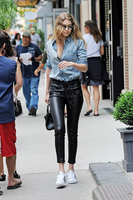 """<strong>Lesson #3: don't buy into day and night boundaries.</strong> <br><br>Leather pants aren't just for after dark. Wear with a denim shirt and sneakers for off-duty style goals. <br><br>Try: Leather Pants, $1,823, <a href=""""http://www.stylebop.com/au/product_details.php?id=716788"""">Helmut Lang at stylebop.com</a>"""