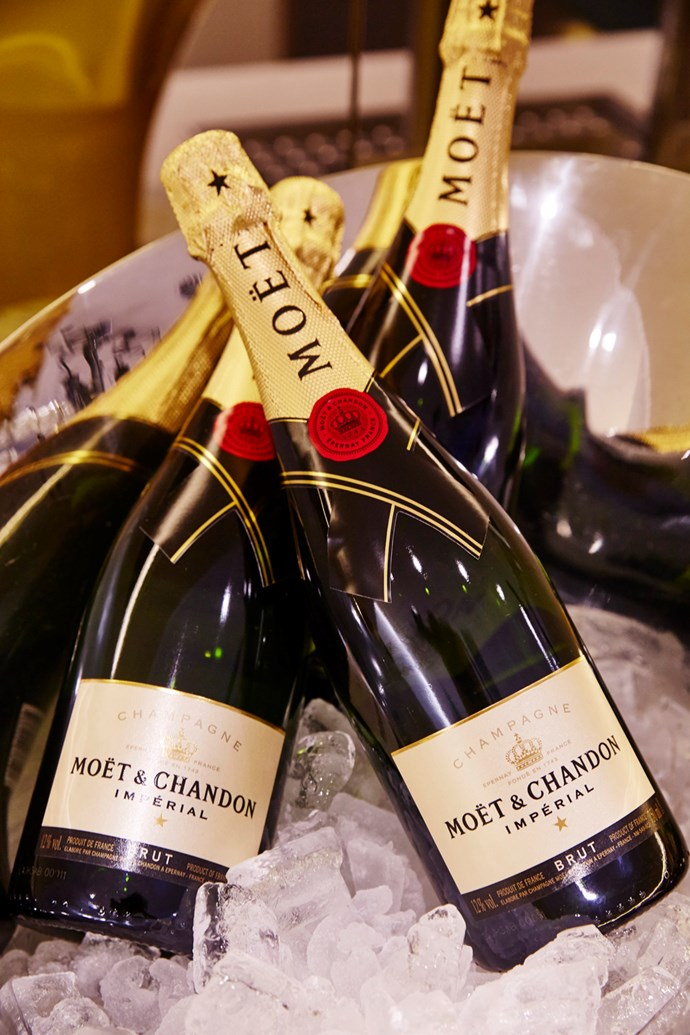 Moet & Chandon on ice. (Guests also enjoyed Santa Vittoria refreshments.)