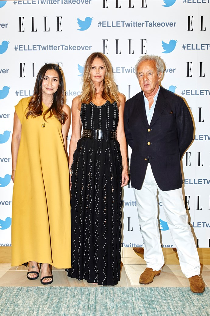 Justine Cullen, Elle MacPherson and Gilles Bensimon.