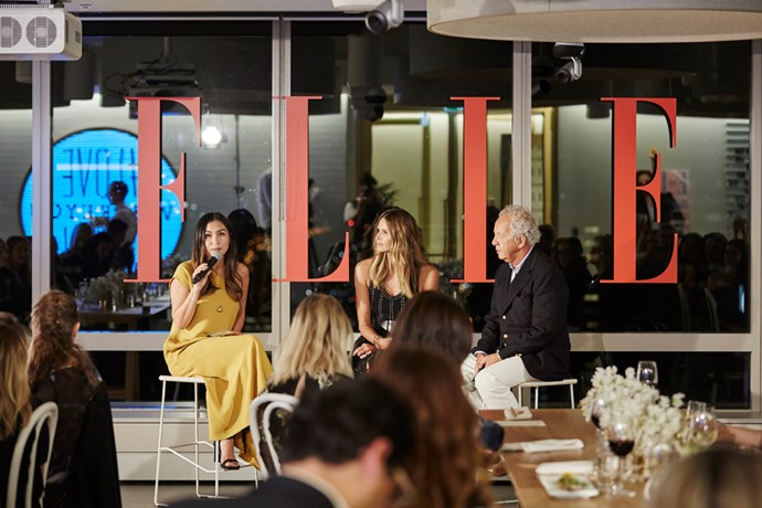 Justine talks all things ELLE with Elle MacPherson and Gilles Bensimon.