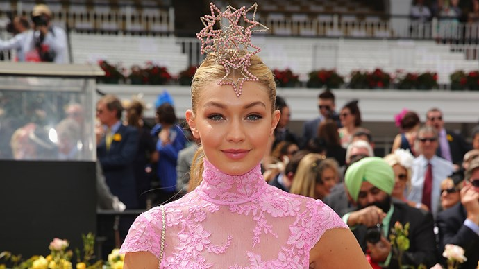 Gigi Hadid at the 2014 Melbourne Cup