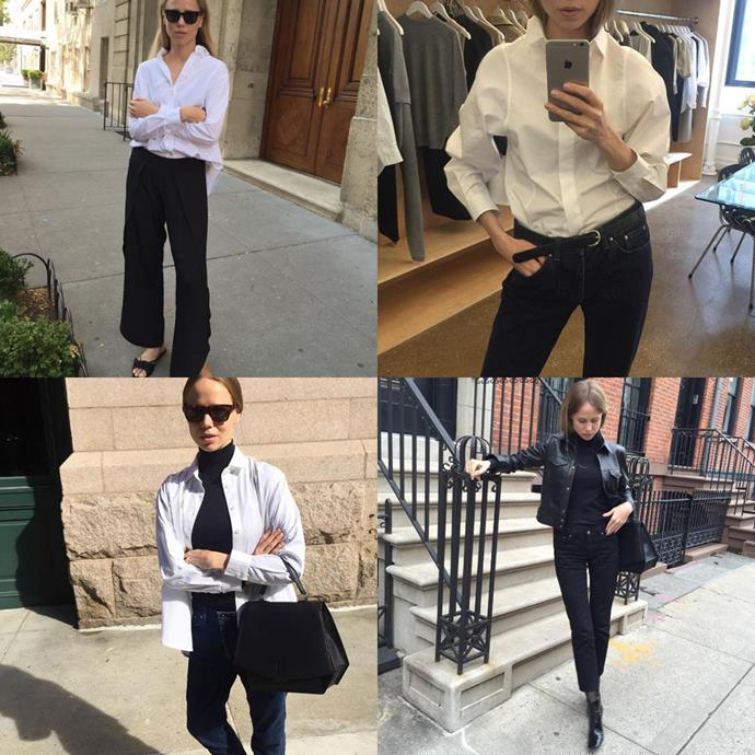 """<a href=""""https://www.instagram.com/elinkling/"""">@elinkling</a><br> Blogger Elin Kling's chic combinations of classic, office-friendly staples (such as the trusty white shirt) will give you endless inspiration."""