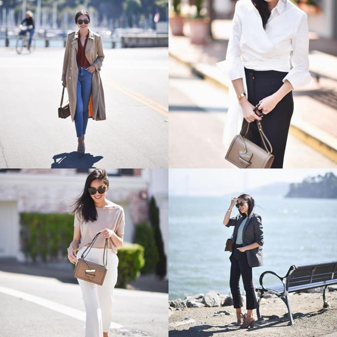 """<a href=""""https://www.instagram.com/9to5chic/"""">@9to5chic</a><br> An IRL marketing director and mother, San Francisco-based Anh somehow finds the time to also give seriously good workwear inspo."""