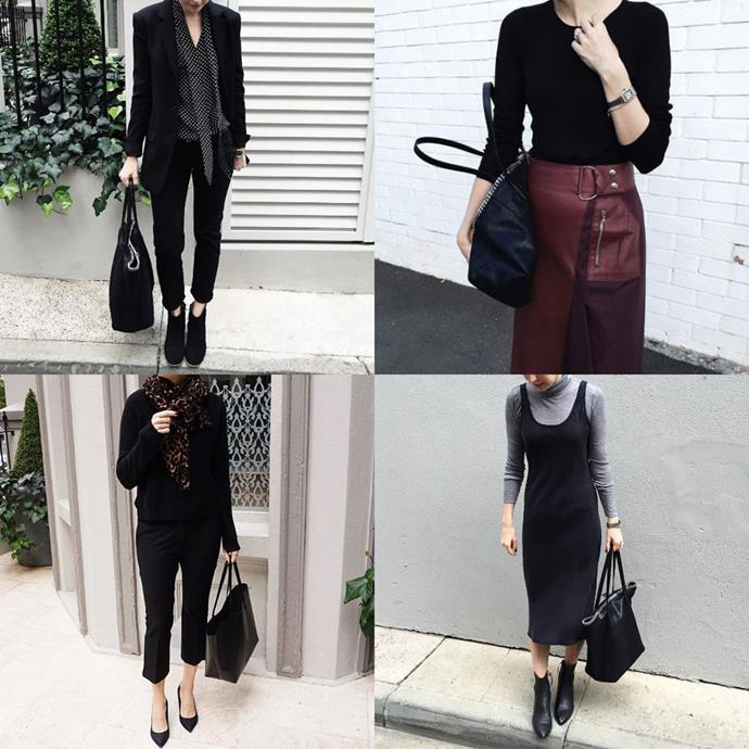"""<a href=""""https://www.instagram.com/style_by_aggie/?hl=en"""">@style_by_aggie</a><br> Run by a lawyer, Style By Aggie is full of chic workwear looks (and equally chic weekend-ready outfits) with a luxe, polished feel."""