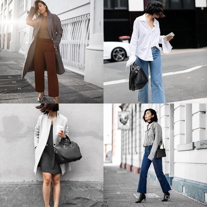 """<a href=""""https://www.instagram.com/beigerenegade/"""">@beigerenegade</a><br>A photographer, lawyer and fashion editor, Jiawa Liu of Beige Renegade's outfits are style fodder for those who can be a little more playful with their office attire."""