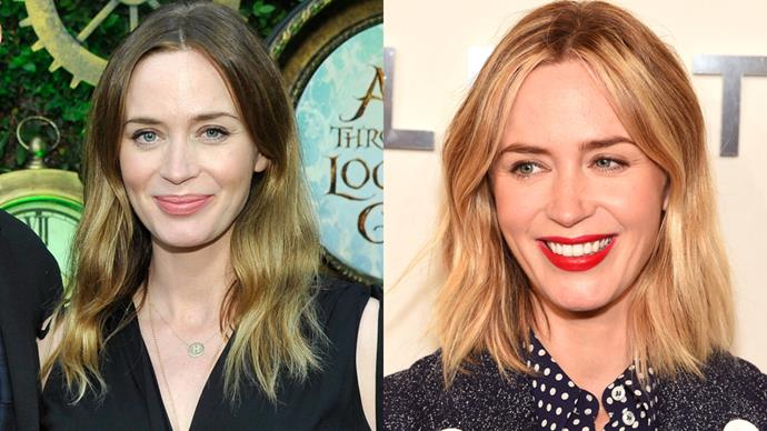 <p> <strong>Emily Blunt</strong></p> <p>Emily Blunt debuts a shorter, stronger Bronde locks.</p>