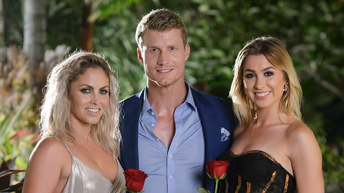 Nikki Gogan, Richie Strahan, Alex Nation on The Bachelor Australia 2016