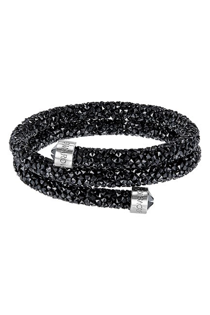 """A sparkly bangle that can double as a choker? So much yes. <br><br>Crystaldust Double Bangle , $129, <a href=""""http://www.swarovski.com/Web_AU/en/5250023/product/Crystaldust_Bangle_Double,_Black.html"""">Swarovski </a>"""