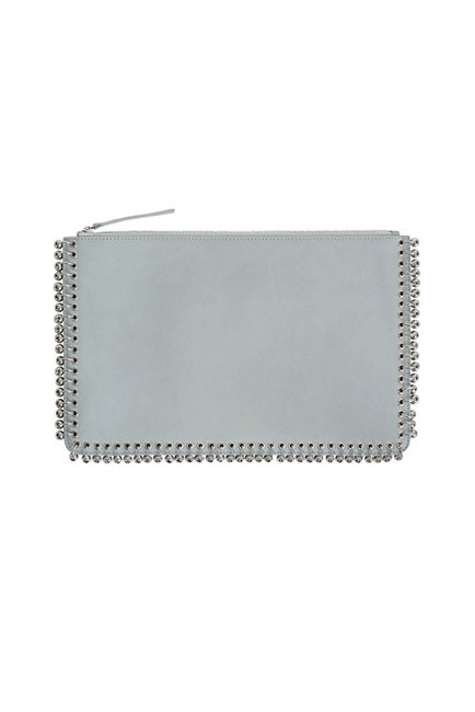 """A powder blue clutch is perfect for race day: subtle and seriously stylish. <br><br>Clutch, $450, <a href=""""https://www.zimmermannwear.com/new-arrivals/embellished-envelope-clutch-powder.html"""">Zimmermann</a>"""