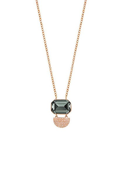 """With additional accessories that you don't normally wear, keep your jewellery stylishly simple. <br><br>Necklace, $149, <a href=""""http://www.swarovski.com/Web_AU/en/5230555/product/Future_Necklace.html"""">Swarovski</a>"""