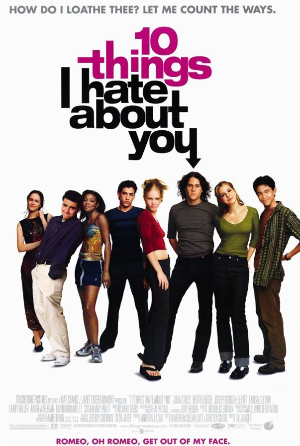 <p><strong><em>10 Things I Hate About You</em> (1999)</strong><p><br> Heath Ledger being a sultry, angry teen was our '90s dream.