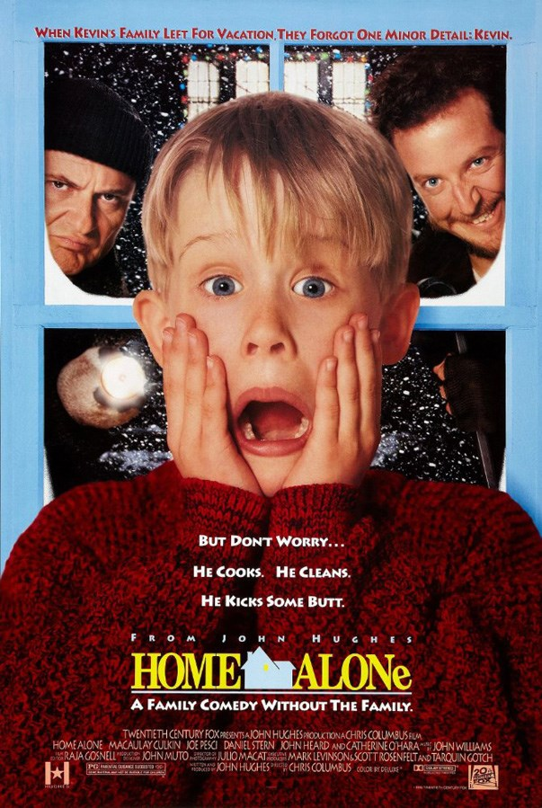 <p><strong><em>Home Alone</em> (1990)</strong><p><br> A ridiculously cute Macaulay Culkin in a Christmas themed movie. Perfection.