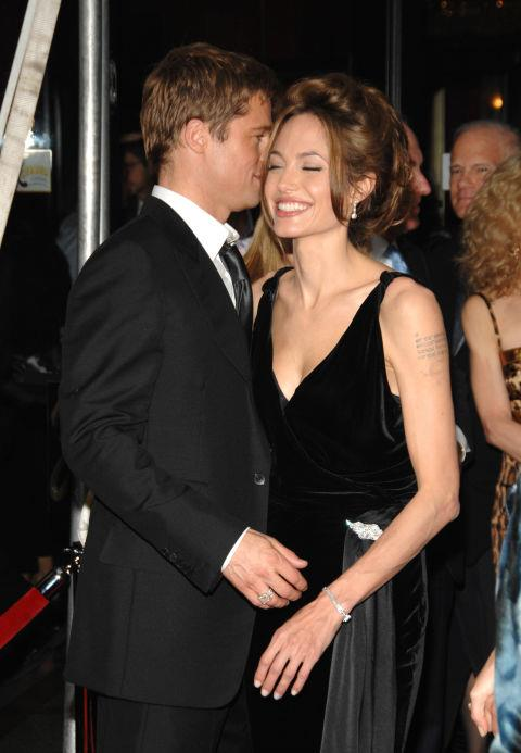 <p><strong>June 2007</strong><p> At the New York premiere of <em>A Mighty Heart.</em>
