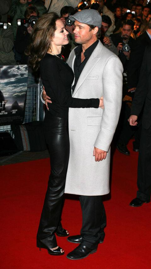 <p><strong>November 2007</strong><p> At the London premiere of <em>Beowulf.</em>