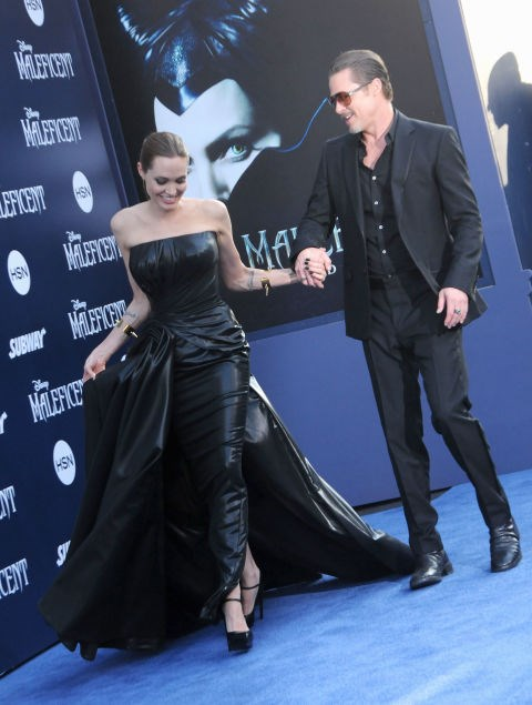 <p><strong>May 2014</strong><p> At the world premiere of <em>Maleficent. </em>